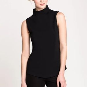 Nic + Zoe perfect mock neck tank top solid black